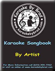 Karaoke Song Listing Sorted by Artists